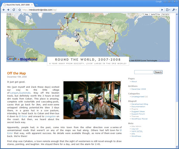 Travel Blog theme for Wordpress